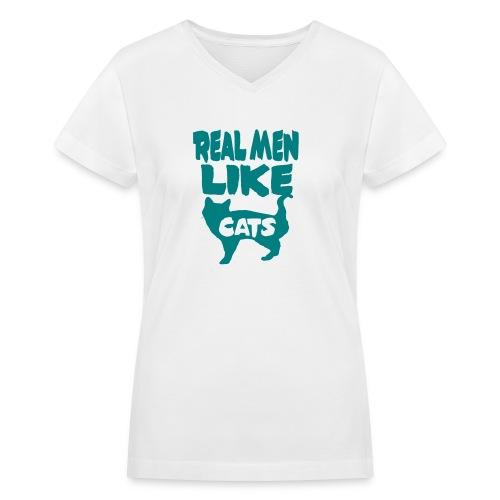 cats - Women's V-Neck T-Shirt