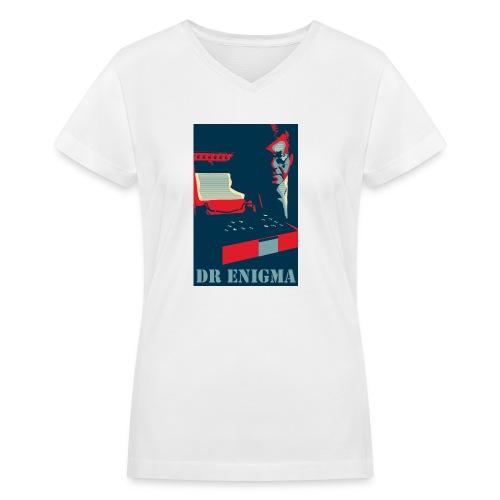 Dr Enigma+Enigma Machine - Women's V-Neck T-Shirt