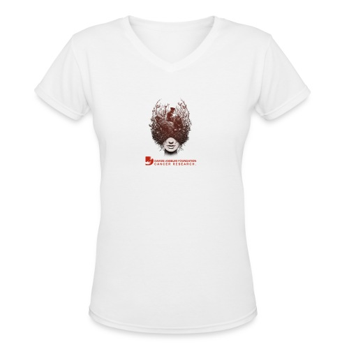 CANCER RESEARCH - Women's V-Neck T-Shirt