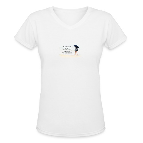 Womens Tshirt - Inspirational - Women's V-Neck T-Shirt