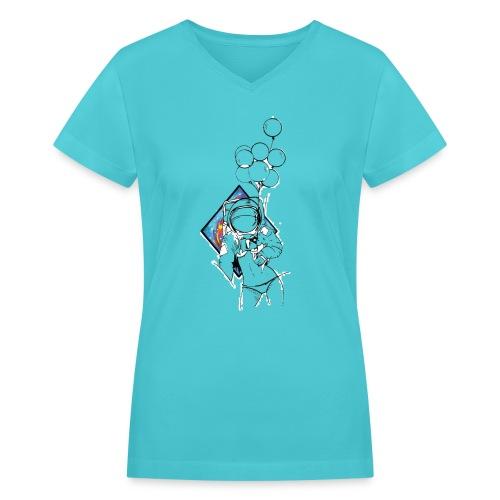 Astronaute - Art'Norme - Women's V-Neck T-Shirt