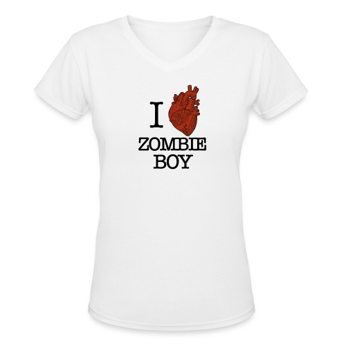 heart2 notxt - Women's V-Neck T-Shirt
