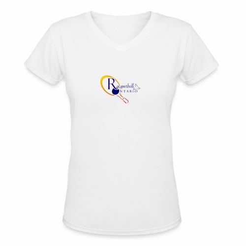 Racquetball Ontario branded products - Women's V-Neck T-Shirt
