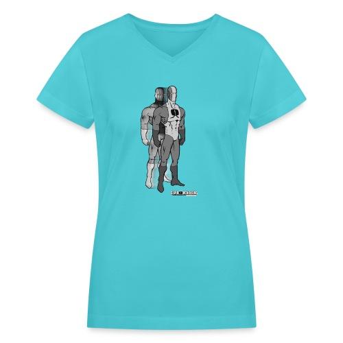 Superhero 9 - Women's V-Neck T-Shirt