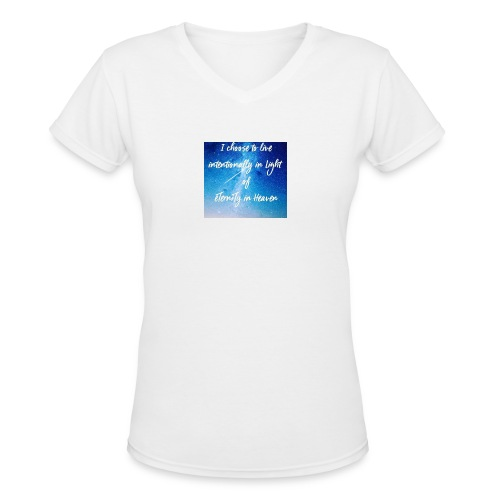 20161206_230919 - Women's V-Neck T-Shirt