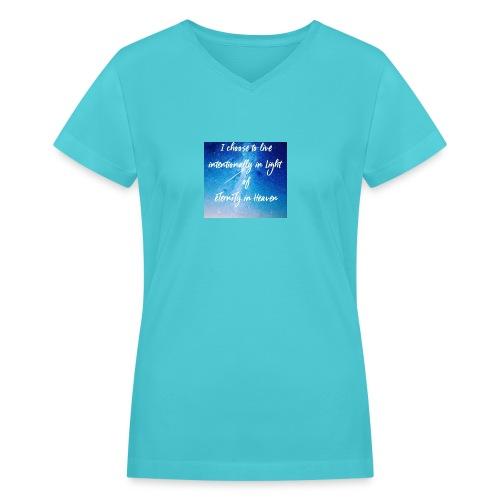 20161206_230919 - Women's V-Neck T-Shirt