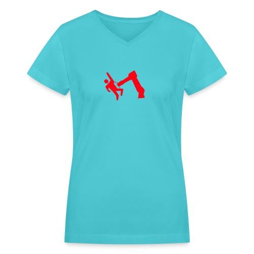 Robot Wins - Women's V-Neck T-Shirt