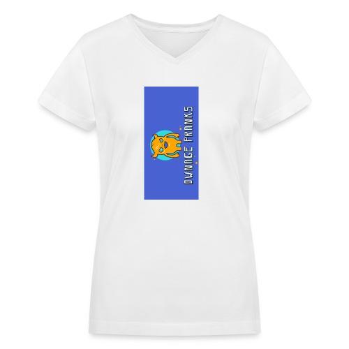 logo iphone5 - Women's V-Neck T-Shirt