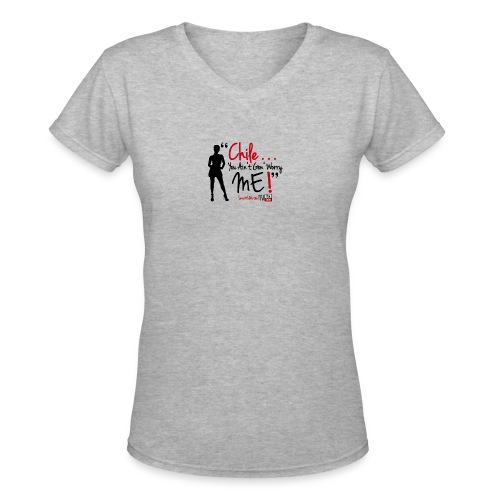 ChileWhite - Women's V-Neck T-Shirt