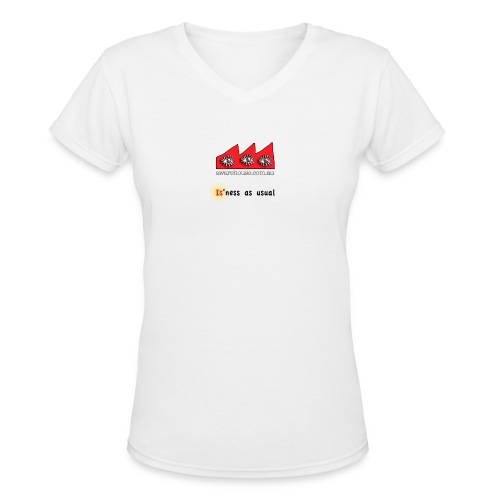 isnessAsUsual onWhite - Women's V-Neck T-Shirt