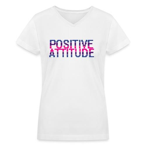 positude - Women's V-Neck T-Shirt