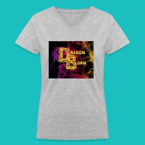 DragonBorn Logo - Women's V-Neck T-Shirt