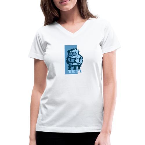 Fit Yeti - Women's V-Neck T-Shirt