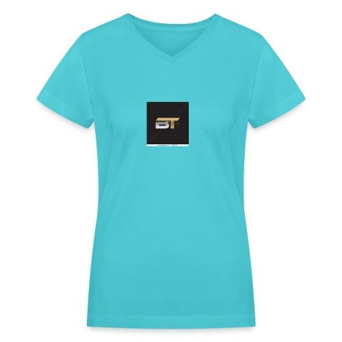 BT logo golden - Women's V-Neck T-Shirt