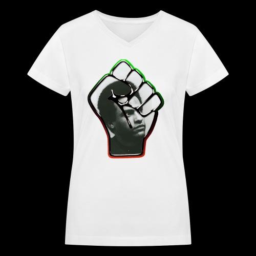 Huey Newton RBG Fist - Women's V-Neck T-Shirt