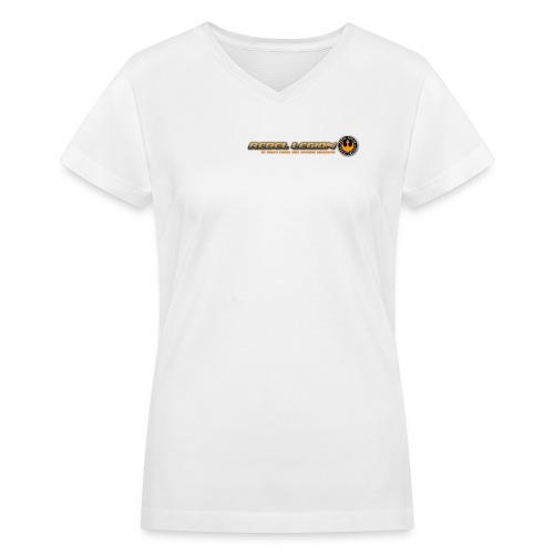 Rebel Legion Header - Women's V-Neck T-Shirt