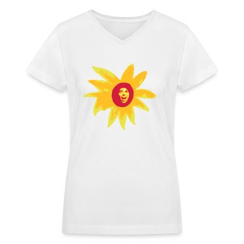 drawing3 - Women's V-Neck T-Shirt