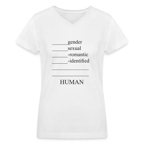 fill in the blank extended - Women's V-Neck T-Shirt