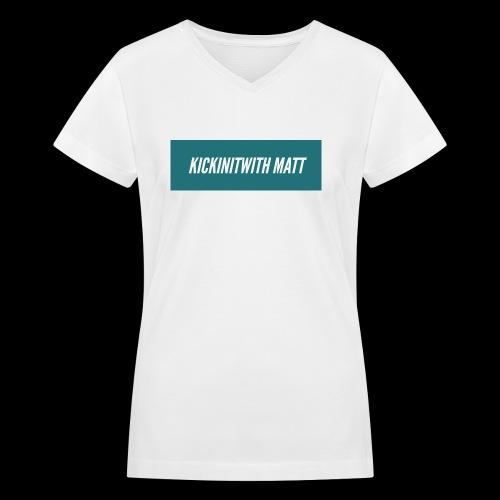 Flames - Women's V-Neck T-Shirt