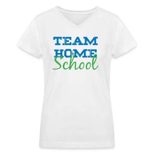 Team Homeschool Color - Women's V-Neck T-Shirt