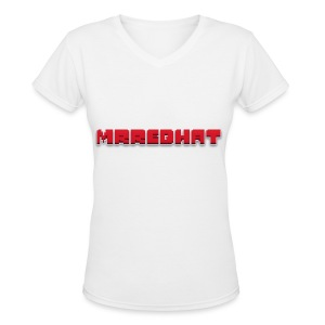 MrRedHat Plain Logo - Women's V-Neck T-Shirt