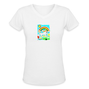 Unicorns are Magical Creatures The Make Electricit - Women's V-Neck T-Shirt