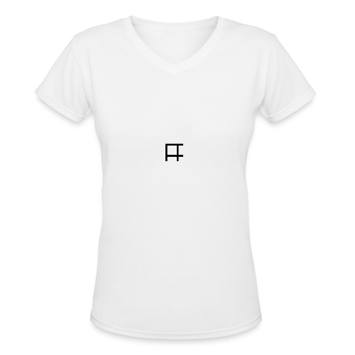 HUGE Logo - Women's V-Neck T-Shirt