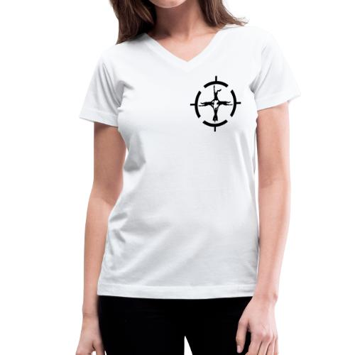 Center of Gravity - Women's V-Neck T-Shirt