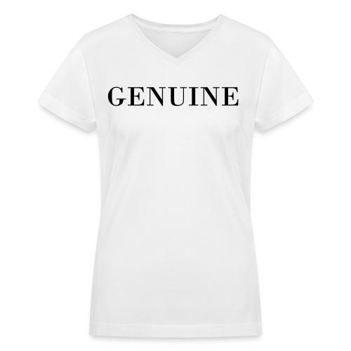 GENUINE tee - Women's V-Neck T-Shirt