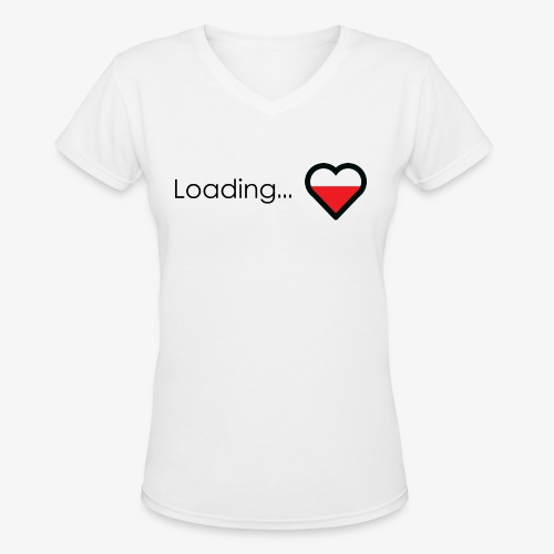 Loading heart - Women's V-Neck T-Shirt