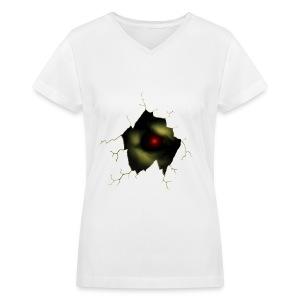 Broken Egg Dragon Eye - Women's V-Neck T-Shirt