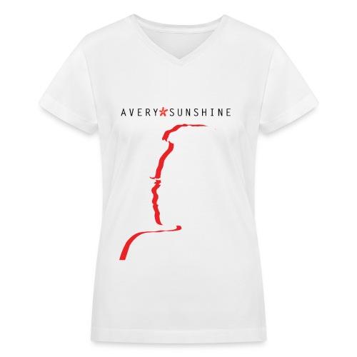Avery*Sunshine Silhoette II - Women's V-Neck T-Shirt