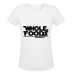 WHOLE_FOODS_STAR_WARS - Women's V-Neck T-Shirt