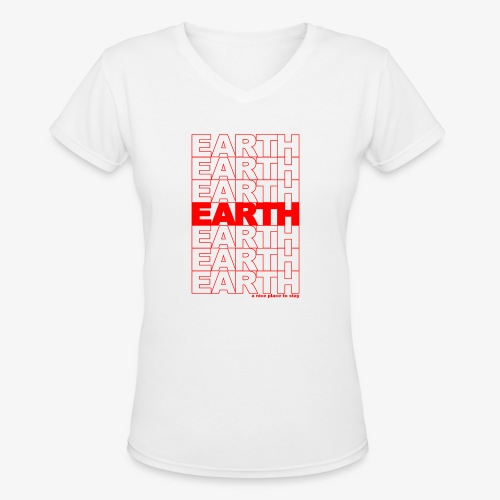 earth - take out - Women's V-Neck T-Shirt