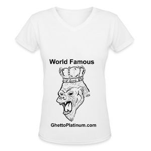 T-shirt-worldfamousForilla2tight - Women's V-Neck T-Shirt