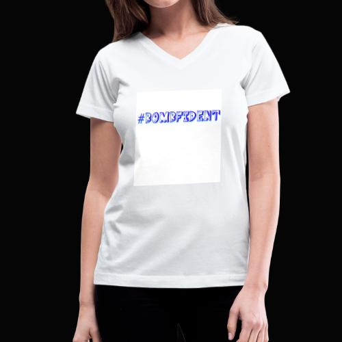 Bombfident Babe - Women's V-Neck T-Shirt