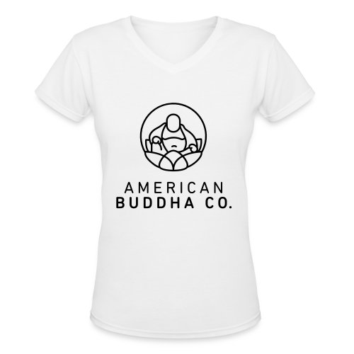 AMERICAN BUDDHA CO. ORIGINAL - Women's V-Neck T-Shirt