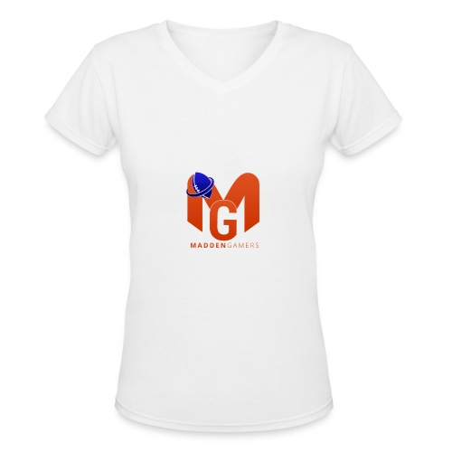 MaddenGamers MG Logo - Women's V-Neck T-Shirt