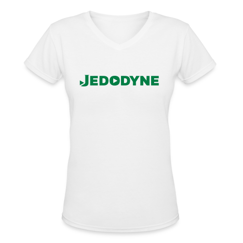 JEDODYNE CLASSIC GREEN TEXT - Women's V-Neck T-Shirt