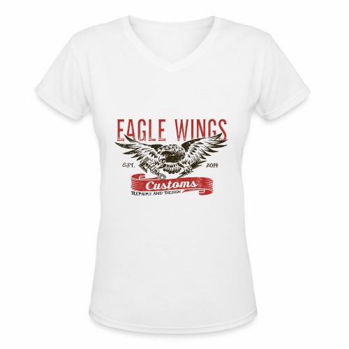Eagle Wings Customs - Women's V-Neck T-Shirt