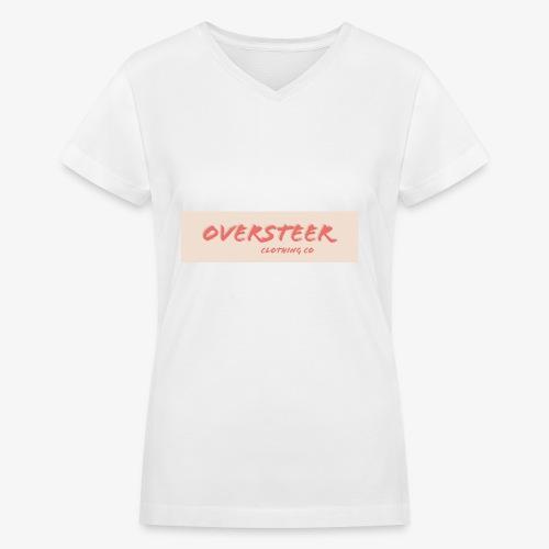Peach Oversteer - Women's V-Neck T-Shirt