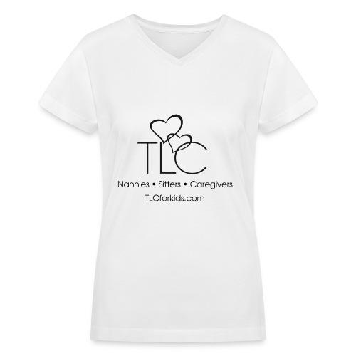 TLC Black Logo - Women's V-Neck T-Shirt