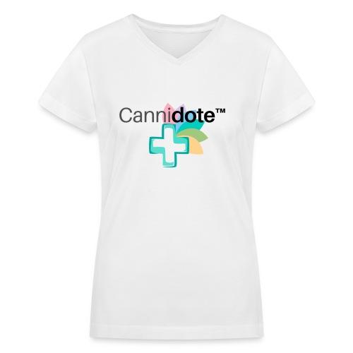 2 CANNIDOTE - Women's V-Neck T-Shirt