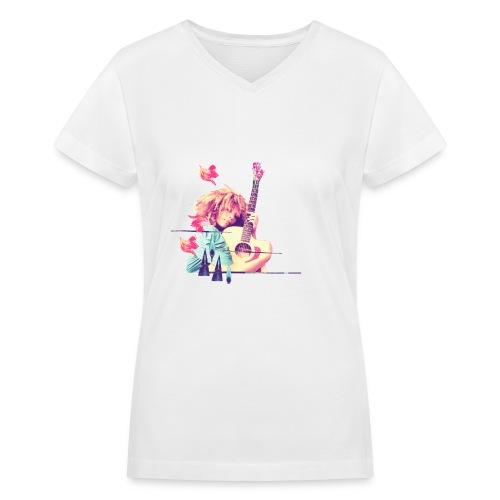 Albumcoverforwebsitevintage - Women's V-Neck T-Shirt