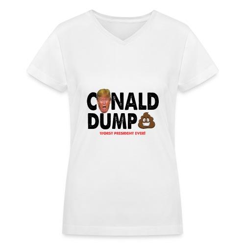 Conald Dump Worst President Ever - Women's V-Neck T-Shirt
