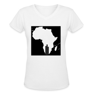 Tswa_Daar_Logo_Design - Women's V-Neck T-Shirt
