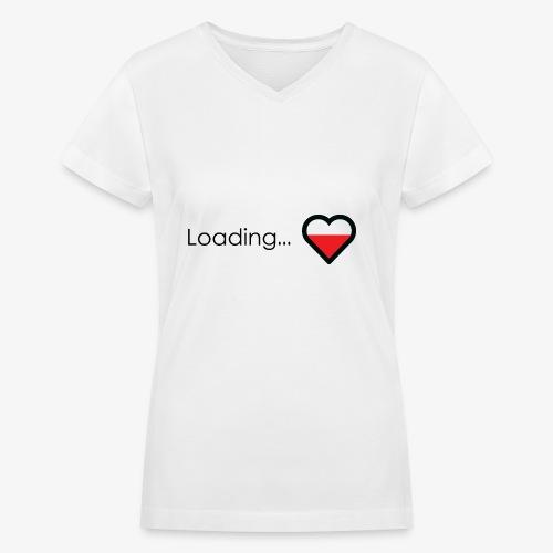 Loading heart - Women's V-Neck T-Shirt