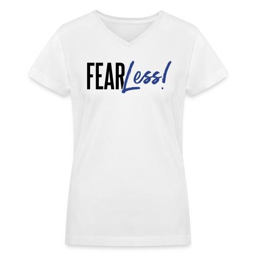 FearLess - Women's V-Neck T-Shirt