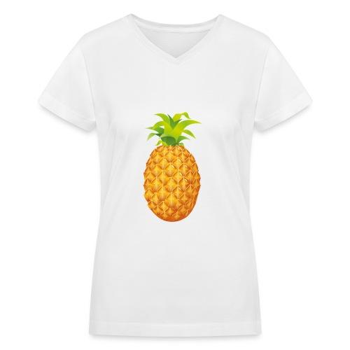 Pineapple - Women's V-Neck T-Shirt