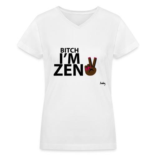 ZEN LIFE - Women's V-Neck T-Shirt